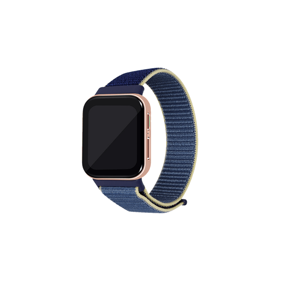 CellFAther Alaskan Blue Woven Nylon Strap for Oppo Watch 46mm-Indigo