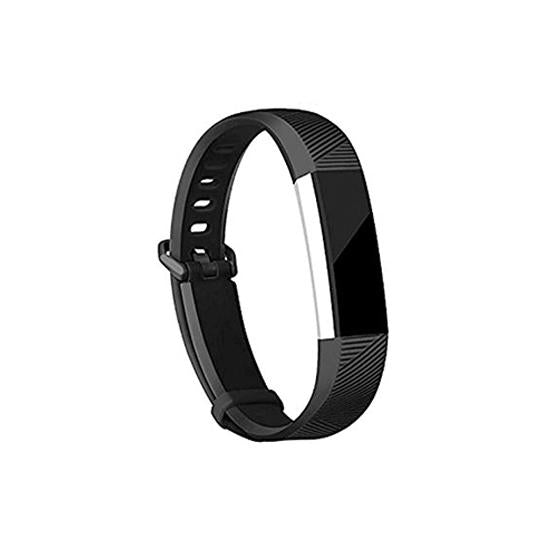 CellFAther Black Silicone Strap For Fitbit Alta Bands/Alta HR/Ace-Midnight Blue
