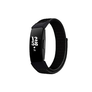 CellFAther Black Woven Nylon Band For Fitbit Inspire/Fitbit Inspire HR/ ACE 2 - Black