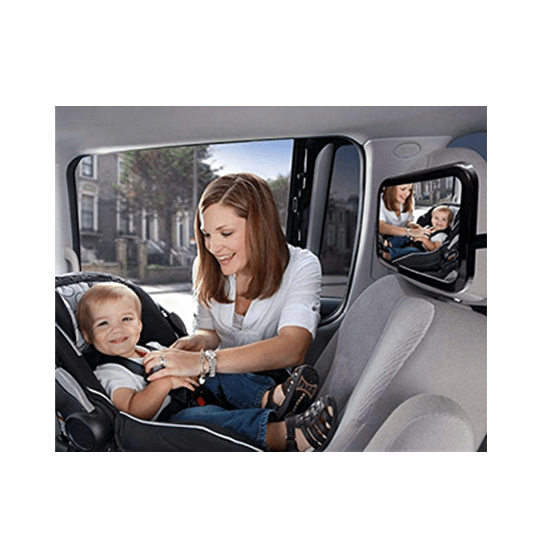 Car Rear View Facing Back Seat Mirror for Child Safety 360 Degree Adjustable (Large- 11.8 x 7.5 inch) - CellFAther