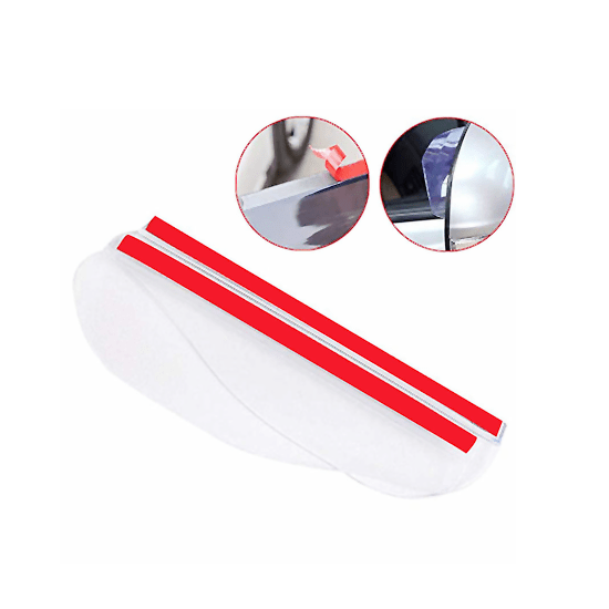 Car Rear View Side Mirror Rain Eyebrow Universal for Car, Truck and SUV (Transparent- Pack of 2) - CellFAther