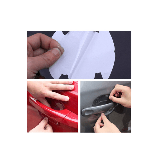 Transparent Scratch Resistant Car Door Handle Paint Protective Film (Pack of 4) - CellFAther