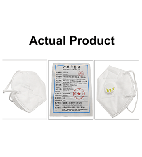 KN95 GB2626 Air Filter Face Mask(White) - CellFAther