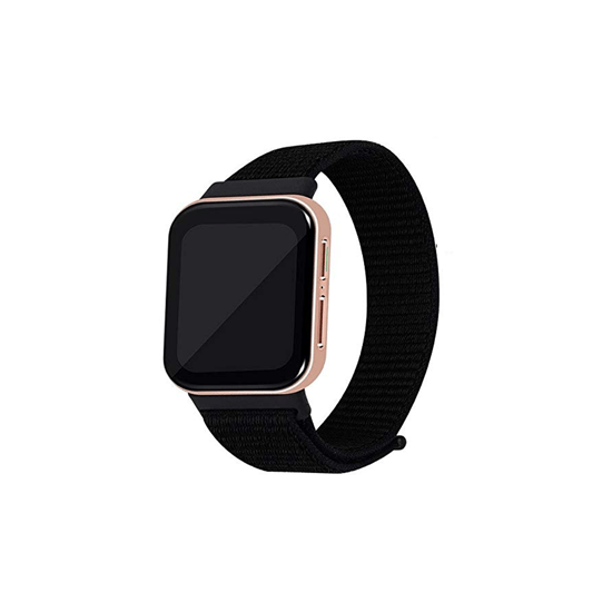 CellFAther Jet Black Woven Nylon Strap for Oppo Watch 46mm-Indigo
