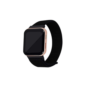 CellFAther Jet Black Woven Nylon Strap for Oppo Watch 46mm-Rainbow