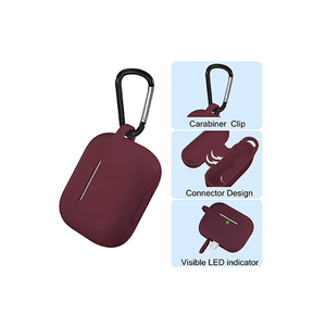 Silicone Case Cover for Airpods Pro (Wine) - CellFAther