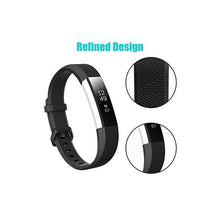 Load image into Gallery viewer, CellFAther Silicone Strap For Fitbit Alta Bands/Alta HR/Ace-Black