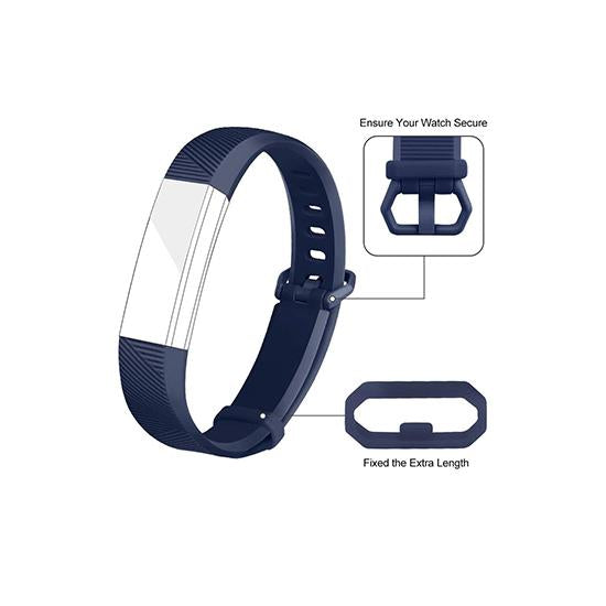 CellFAther Silicone Strap For Fitbit Alta Bands/Alta HR/Ace-Midnight Blue