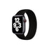 CellFAther Solo Loop Elastic Silicone Strap for Apple Watch 42/44mm-Black (Large)