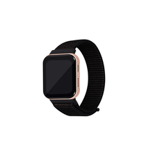 Load image into Gallery viewer, CellFAther Spider Black Woven Nylon Strap for Oppo Watch 46mm-Rainbow