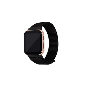 CellFAther Spider Black Woven Nylon Strap for Oppo Watch 46mm-Rainbow