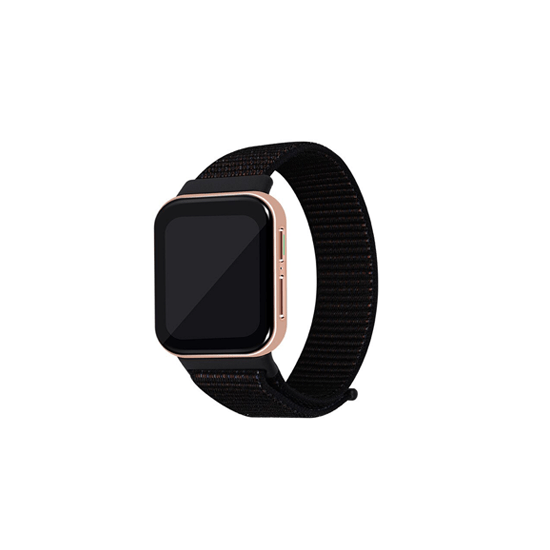 CellFAther Spider Black Woven Nylon Strap for Oppo Watch 46mm-Spider Black