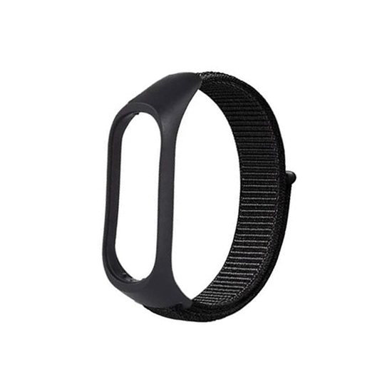 CellFAther Strap Black Nylon Wristband Strap for Mi Band 5/4/3 - Seashell Seashell Woven Nylon Strap For Xiaomi Band 3/4 | bestcell2017