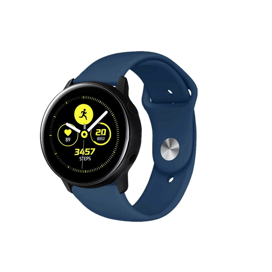 Silicone Strap For Samsung Galaxy Watch Active 40mm/Samsung Galaxy Watch 42mm/Samsung Gear Sport/S2 Classic 20mm (Midnight Blue) - CellFAther