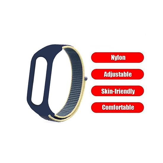CellFAther Strap Nylon Wristband Strap for Mi Band 5/4/ - Alaskan Blue Seashell Woven Nylon Strap For Xiaomi Band 3/4 | bestcell2017