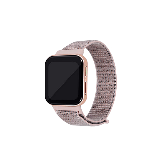 CellFAther Strap Pink Sand Woven Nylon Strap for Oppo Watch 41mm -Rainbow