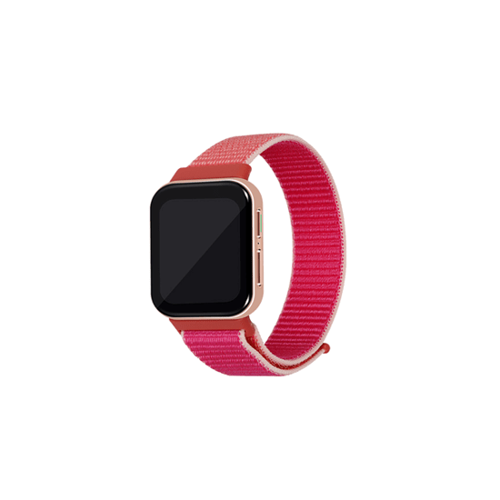 CellFAther Strap Pomergranate Woven Nylon Strap for Oppo Watch 41mm - Pink Sand