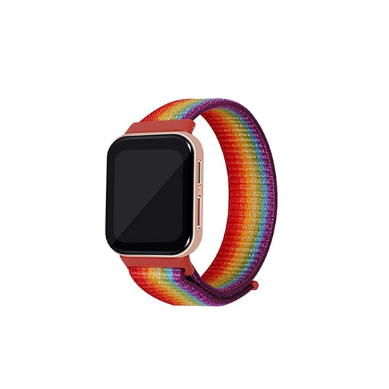 CellFAther Strap Rainbow Woven Nylon Strap for Oppo Watch 41mm - Jet Black