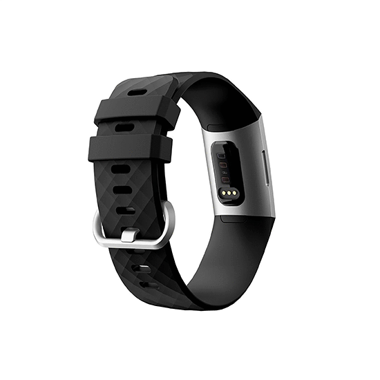 Silicone Replacement Band For Fitbit Charge 3/ SE (Large-Black) - CellFAther