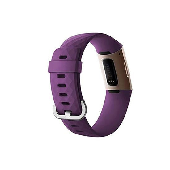 CellFAther Strap Silicone Replacement Band For Fitbit Charge 3/ SE (Large-Purple) Silicone Replacement Band For Fitbit Charge 3/ SE (Large-Black) | bestcell2017