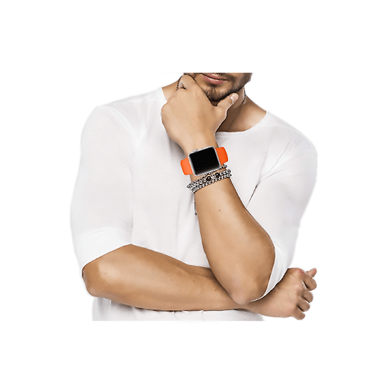 Silicone Strap For Apple Watch-Orange (42/44mm) - CellFAther