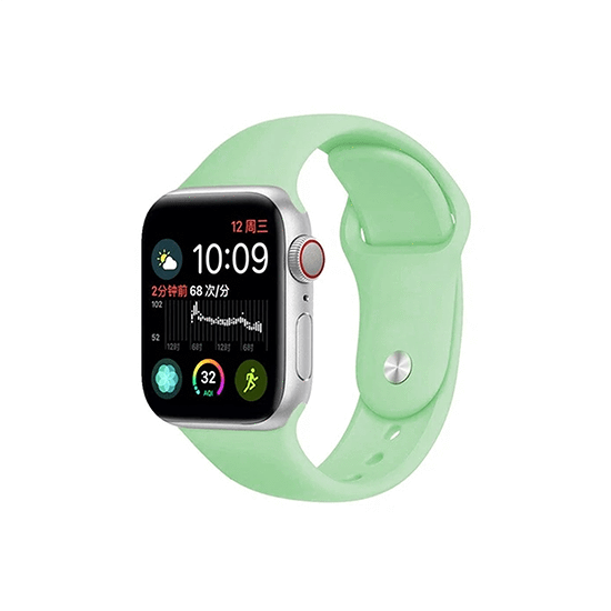 Silicone Strap For Apple Watch-Spearmint (42/44mm) - CellFAther