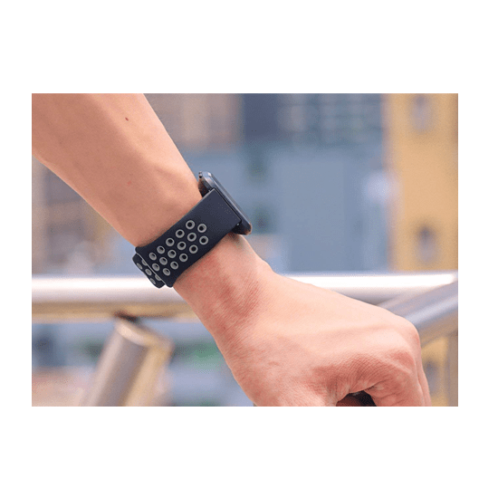 Silicone Strap For Fitbit Versa/Fitbit Versa 2/Fitbit Versa Lite Edition ( Dotted - Black&Grey) - CellFAther