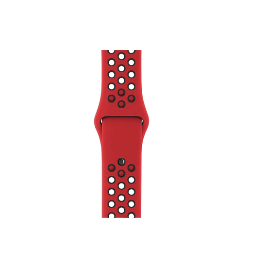 Silicone Strap For Samsung Galaxy Watch 46mm / Gear S3 22mm (Red & Black-Dotted) - CellFAther