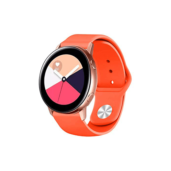 Silicone Strap For Samsung Galaxy Watch Active 40mm/Samsung Galaxy Watch 42mm/Samsung Gear Sport/S2 Classic 20mm (Spicy Orange) - CellFAther