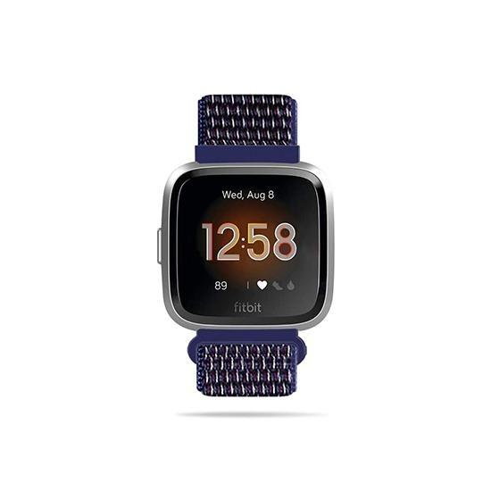 Woven Nylon Strap For Fitbit Versa/Versa 2 /Versa Lite (Indigo) - CellFAther