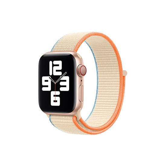 CellFAther Straps Cream New 2020 Edition Nylon Straps For Apple Watch-42/44mm (Cream)