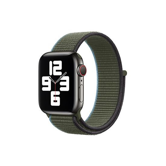 CellFAther Straps Inverness Green New 2020 Edition Nylon Straps For Apple Watch-42/44mm (Inverness Green)