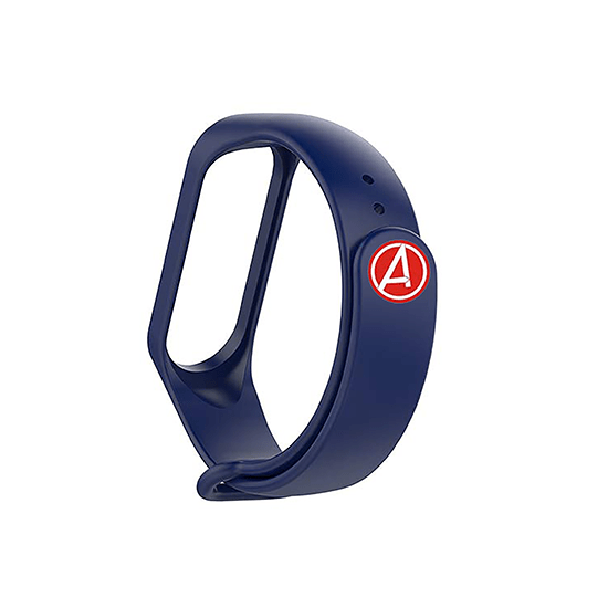 Silicone Wristband for Mi Band 4/ Mi Band 3 (Midnight Blue-Captain America Edition ) - CellFAther