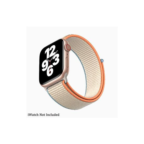 CellFAther Straps New 2020 Edition Nylon Straps For Apple Watch-42/44mm (Cream)