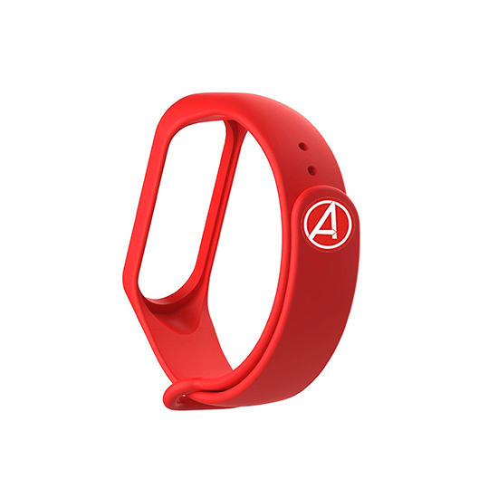 Silicone Wristband for Mi Band 4/ Mi Band 3 (Red-Ironman Edition) - CellFAther