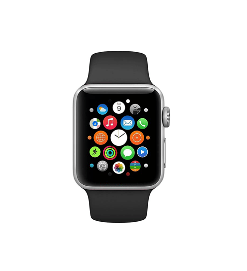 Silicone Strap For Apple Watch-Black (42/44mm) - CellFAther