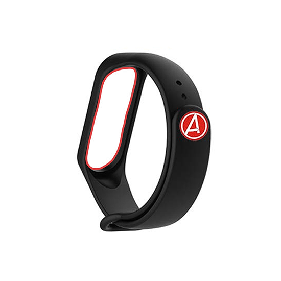 Silicone Wristband for Mi Band 4/ Mi Band 3 (Black-Avengers Edition) - CellFAther