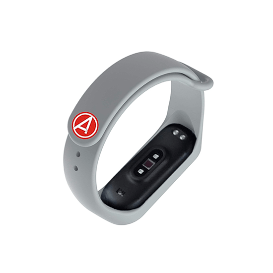 Silicone Wristband for Mi Band 4/ Mi Band 3 (Grey-Avengers Edition) - CellFAther