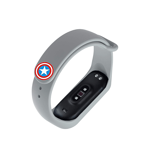 Silicone Wristband for Mi Band 4/ Mi Band 3 (Grey-Captain America Edition) - CellFAther