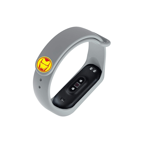 Silicone Wristband for Mi Band 4/ Mi Band 3 (Grey-Ironman Edition) - CellFAther