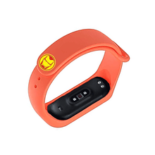 Load image into Gallery viewer, Silicone Wristband for Mi Band 4/ Mi Band 3 (Orange-Ironman Edition) - CellFAther