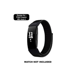 CellFAther Woven Nylon Band For Fitbit Inspire/Fitbit Inspire HR/ ACE 2 - Black