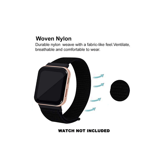 CellFAther Woven Nylon Strap for Oppo Watch 41mm - Jet Black