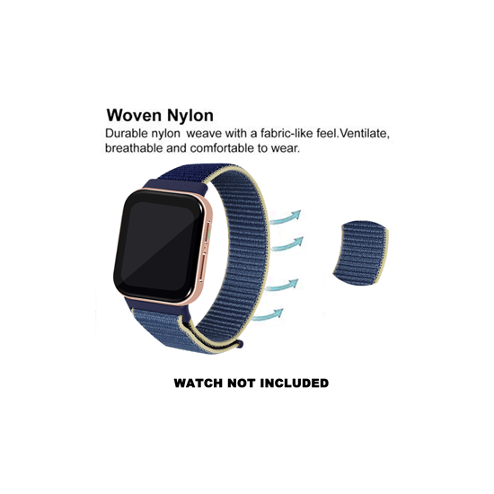 CellFAther Woven Nylon Strap for Oppo Watch 46mm-Alaskan Blue