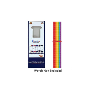 Woven Nylon Strap for Oppo Watch 46mm-Rainbow