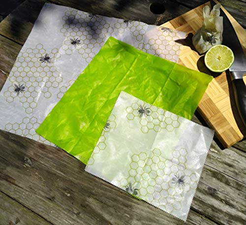 Beeswax Food Wraps. Set of 6 Natural, Biodegradable, Sustainable and Reusable!
