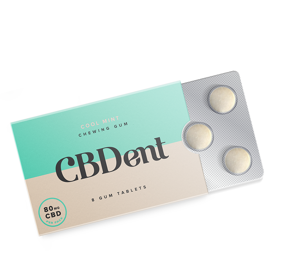 80MG CBD Chewing Gum - Mint Flavor
