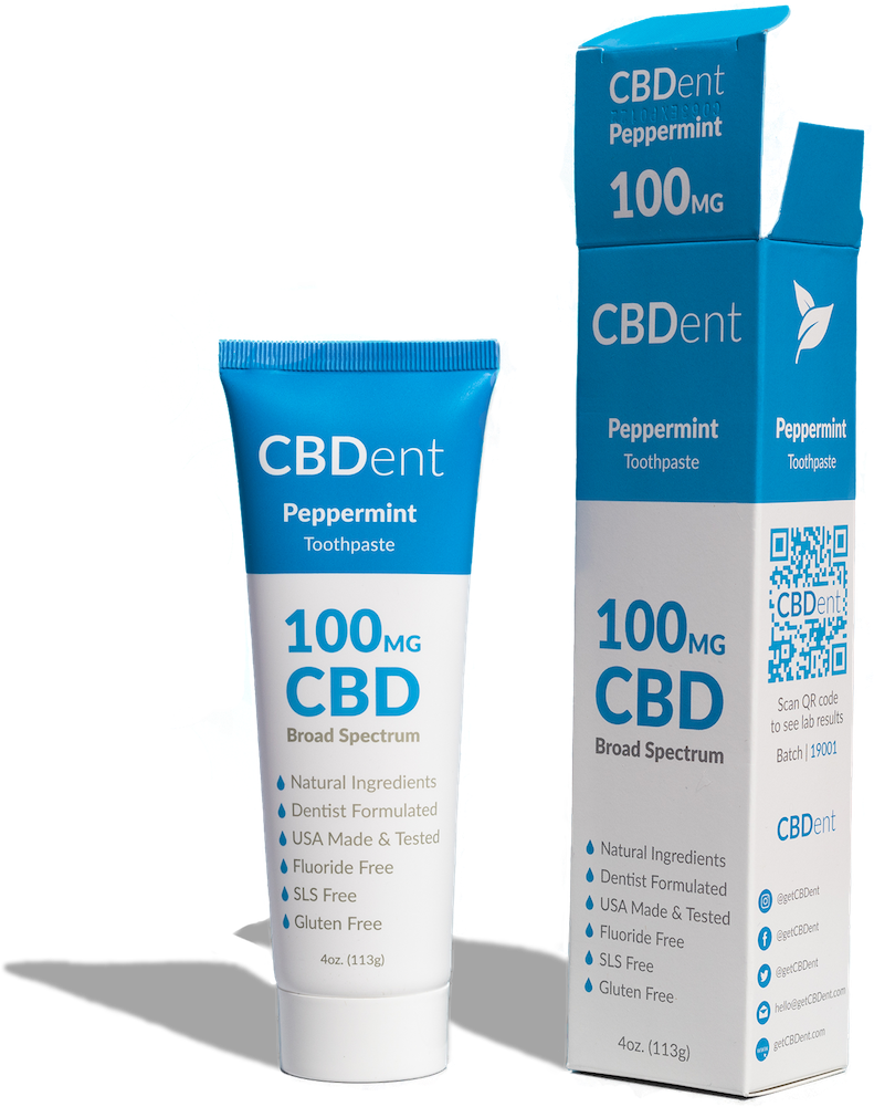 100MG CBD Toothpaste- Peppermint Flavor