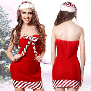 Hot Sale High Quality Woman Sexy Lingerie Christmas Dress Plus Size Babydoll Exotic Cosplay Costumes Clothing Including leggings