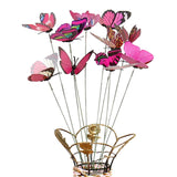 40# Hot Sale 10Pcs/Set Simulation Butterfly Stick Outdoor Garden Flower Pot Decor Ornament Gardening Supplies
